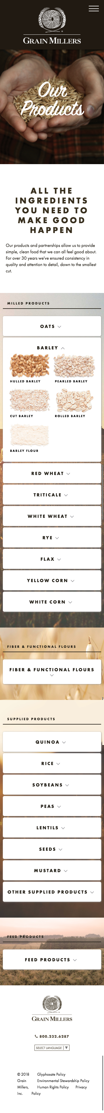 grainmillers product page