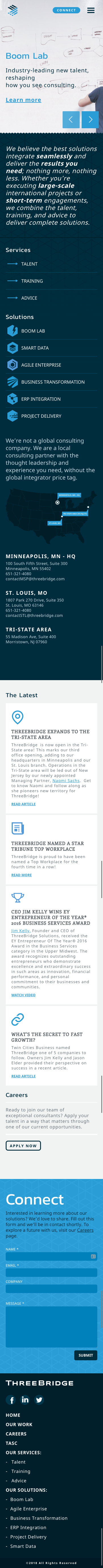 three bridge home page
