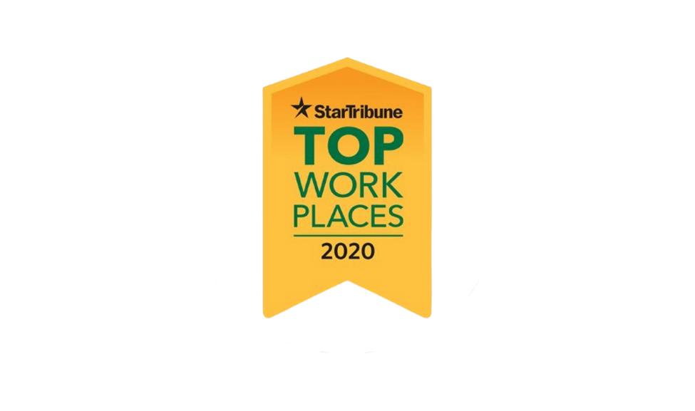 Gold Star Tribune Top Work Places 2020 logo
