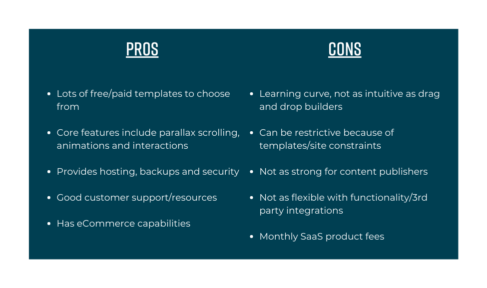 low and no code page builder pros and cons